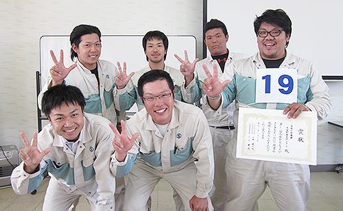 団体の部で今治造船Bチームが優勝、個人の部も渡邊さんが優勝、2位に長谷部さんが入賞。