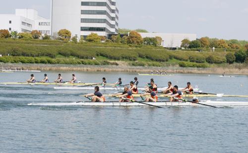 5位入賞を収めた中日本レガッタ男子舵付フォアの決勝