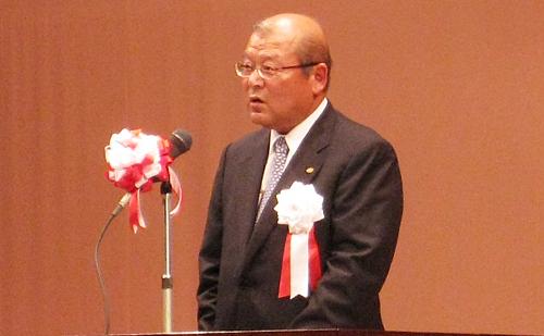 技術センター檜垣巧会長(当社副社長)の挨拶