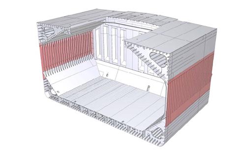 NSafe®-Hull採用部位(赤色部分)