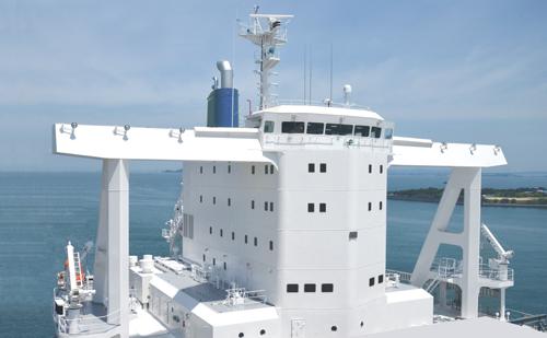 海賊対策と風圧抵抗削減を実現した次世代型上部構造「エアロ・シタデル」